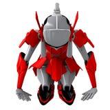 Robot pose japan tradition. Robot shake hand friendly Relationship cooperation Vector Illustration