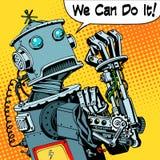 Robot possiamo farlo macchina futura di potere di protesta Immagini Stock