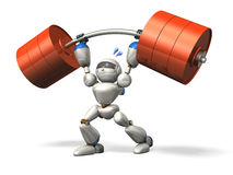 Robot in power lifting Royalty Free Stock Photo