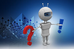 Robot  with problem solving concept Royalty Free Stock Photos