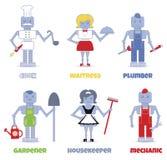 Robot professions Stock Photos