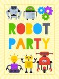 Robot que agita, diseño robótico del amigo del perro para el ejemplo del vector del cartel del partido del niño r libre illustration