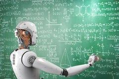 Robot que aprende o que soluciona problemas stock de ilustración