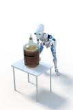 Robot que elabora la cerveza: Fermentación Fotografía de archivo libre de regalías