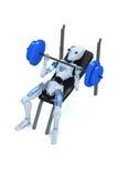 Robot que hace las prensas de banco Imagen de archivo libre de regalías