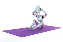 Robot que hace a Sit Ups Imagen de archivo