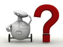 Robot question Royalty Free Stock Photos