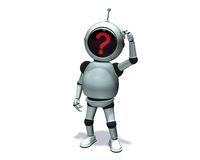 Robot Question Royalty Free Stock Photography