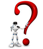 Robot with a question mark Stock Image