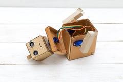 Robot - questo futuro di tecnologia Robot smantellato Fotografia Stock Libera da Diritti