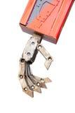 Robot ręka dalej odizolowywa tło Obrazy Stock