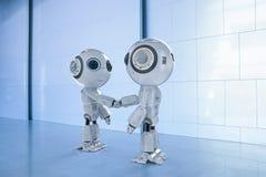 Robot ręki potrząśnięcie ilustracji