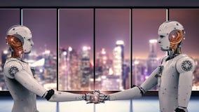 Robot ręki chwianie Zdjęcie Stock