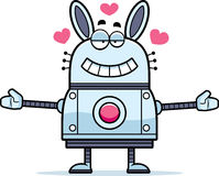 Robot Rabbit Hugging Stock Images
