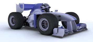 Robot with a racing car Stock Image