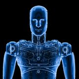 Robot x ray. 3d rendering x-ray robot on black background Stock Photography