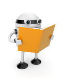 Robot Read The Book Stock Photo