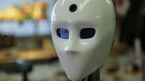 Robot rebooted and saw the world stock video footage