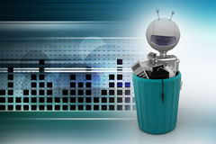 Robot recycling waste Stock Image