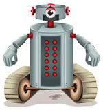 A robot with red buttons Stock Images
