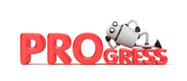 Robot with red word - Innovation! Stock Photos