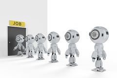 Robot remplacer le travail humain illustration stock