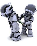 Robot replacing battery pack royalty free illustration