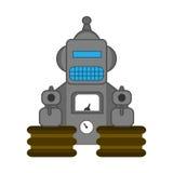 Robot retro del juguete del estilo Fotografía de archivo libre de regalías