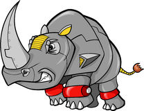Robot Rhino Vector. Steel Safari Robot Rhino Vector Illustration Stock Photo