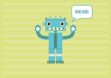 Robot Robo-Robo Royaltyfria Bilder