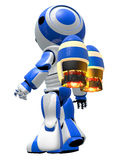 Robot Rocketeer with Jet Pack Royalty Free Stock Image
