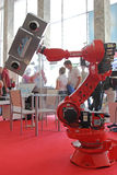 Robot rojo imagen de archivo