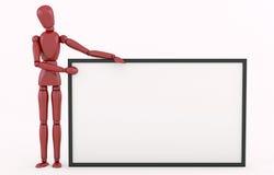 Robot rojo con un marco grande Fotos de archivo