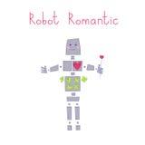 Robot romantico Fotografie Stock Libere da Diritti