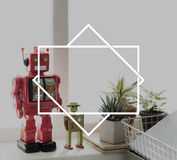 Robot Room Space Symbol Icon Concept Stock Photography