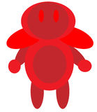 Robot rosso Fotografie Stock