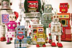 Robot rosso Fotografia Stock