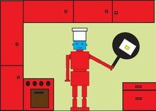 Robot rosso Immagini Stock