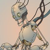 Robot roto futurista libre illustration