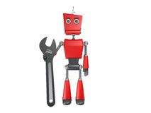 Robot rouge Photographie stock