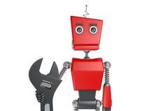 Robot rouge Photos stock