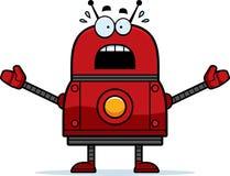 Robot rouge effrayé illustration de vecteur