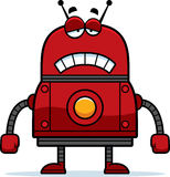 Robot rouge triste Photo libre de droits