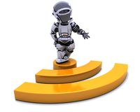 Robot with RSS symbol royalty free stock images