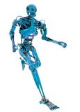 Robot running Royalty Free Stock Photography