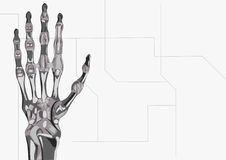 Robot's hand. The illustration of the hand of robot Stock Photos