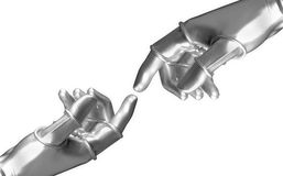 Robot's hands stock photos
