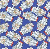 Robot seamless pattern – stock illustration – stock illustration file. N file royalty free illustration