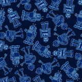 Robot seamless pattern Stock Photo