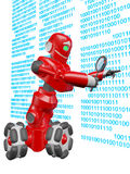 The robot searches. For the right information Stock Photography
